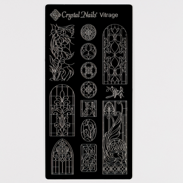 UNIQUE CRYSTAL NAILS NAIL PRINTING PLATE - VITRAGE