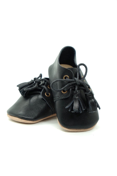 Midnight Black - Genuine Leather Harper Shoe