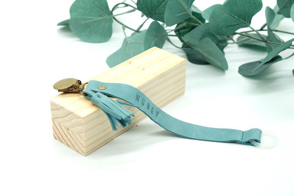 Baby Blue - Genuine Wax Leather Sally Dummy Clip