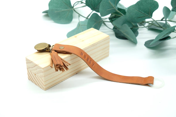 Caramel Brown - Genuine Wax Leather Sally Dummy Clip