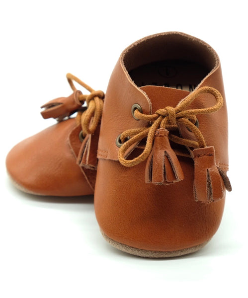Caramel Brown - Genuine Leather Harper Shoe
