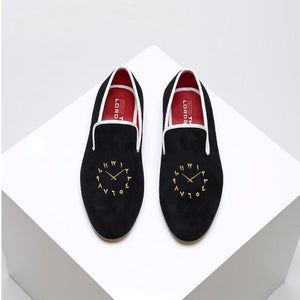 Limited Edition Velvet Loafers - Arabic Watch Dial