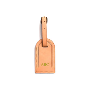 Premium Leather Luggage Tag - Natural