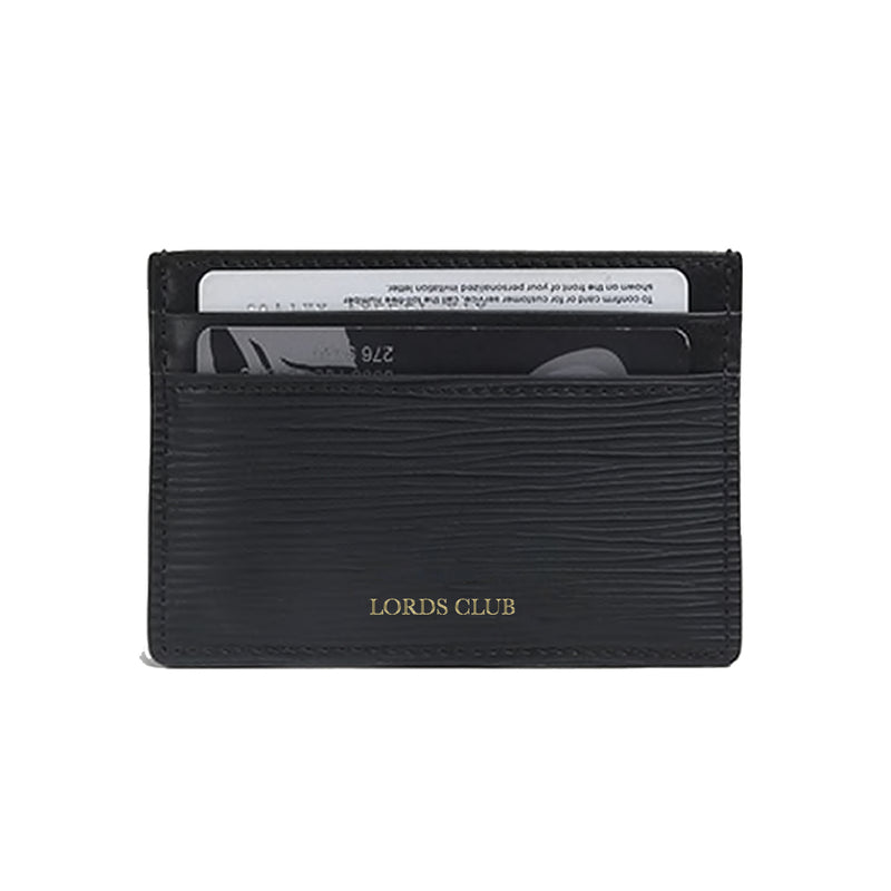 Personalised Card Holder Epi Leather - Black