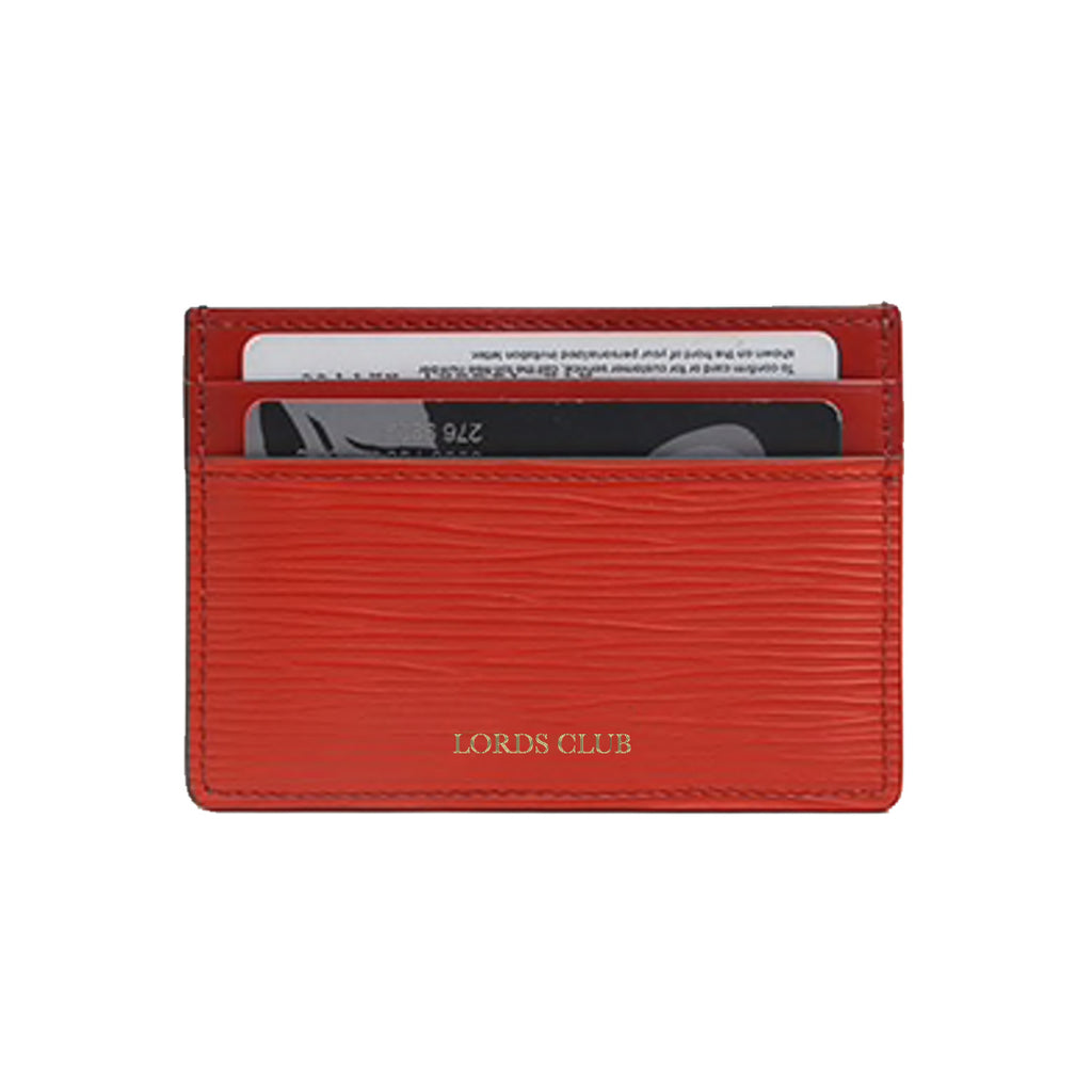 Personalised Card Holder Epi Leather - Red