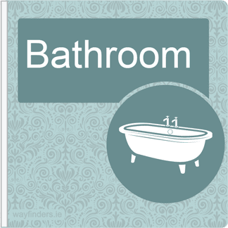 Dementia Friendly Sign Projecting Bathroom Sign Blue