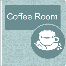 Load image into Gallery viewer, Dementia Friendly Sign Projecting Coffee Room Sign Blue