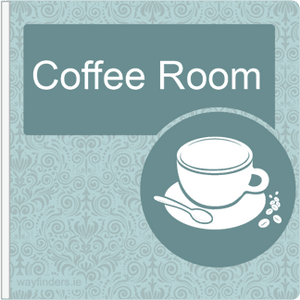 Dementia Friendly Sign Projecting Coffee Room Sign Blue