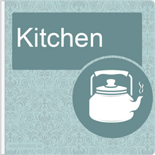 Load image into Gallery viewer, Dementia Friendly Sign Projecting Kitchen Sign Blue