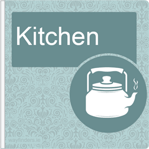 Dementia Friendly Sign Projecting Kitchen Sign Blue
