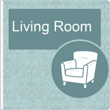 Load image into Gallery viewer, Dementia Friendly Sign Projecting Living Room Sign Blue