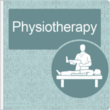 Load image into Gallery viewer, Dementia Friendly Signage Projecting Physiotherapy Sign Blue