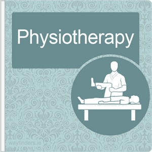 Dementia Friendly Signage Projecting Physiotherapy Sign Blue