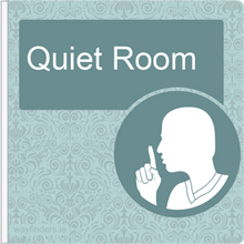 Load image into Gallery viewer, Dementia Friendly Sign Projecting Quiet Room Sign Blue