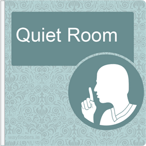 Dementia Friendly Sign Projecting Quiet Room Sign Blue