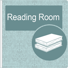 Load image into Gallery viewer, Dementia Friendly Sign Projecting Reading Room Sign Blue