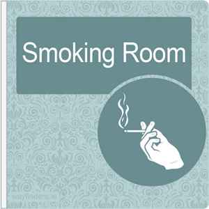 Dementia Friendly Sign Projecting Smoking Room Sign Blue