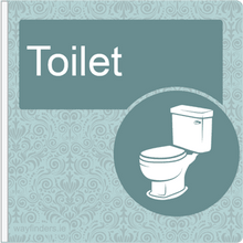 Load image into Gallery viewer, Dementia Friendly Sign Projecting Toilet Sign Blue