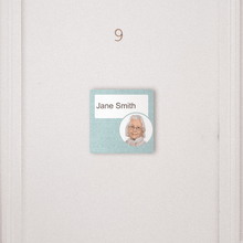 Load image into Gallery viewer, Dementia Friendly Sign Personalised Door Sign Blue