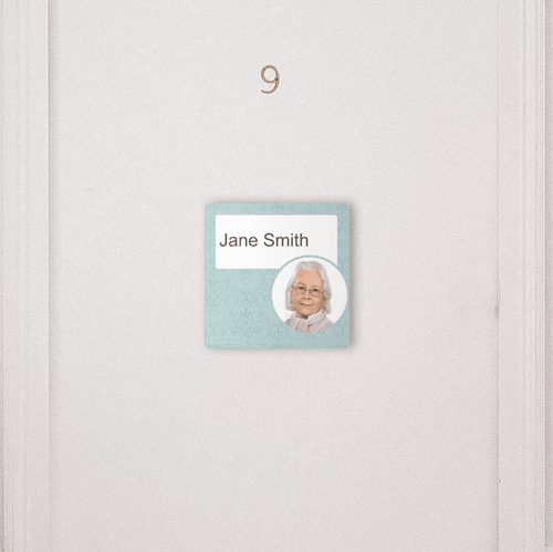 Dementia Friendly Sign Personalised Door Sign Blue