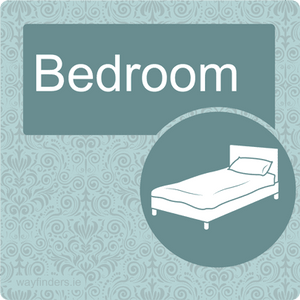 Nursing Home Dementia Friendly Door Sign Bedroom