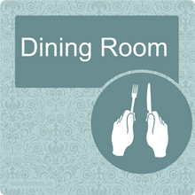 Load image into Gallery viewer, Nursing Home Dementia Friendly Door Sign Dinning Room