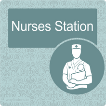 Load image into Gallery viewer, Nursing Home Dementia Friendly Door Sign Nurses Station