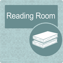 Load image into Gallery viewer, Nursing Home Dementia Friendly Door Sign Reading Room