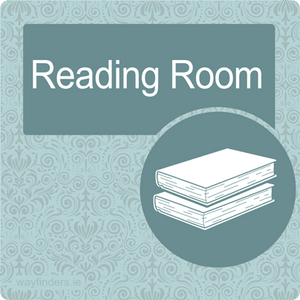 Nursing Home Dementia Friendly Door Sign Reading Room