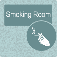 Load image into Gallery viewer, Nursing Home Dementia Friendly Door Sign Smoking Room