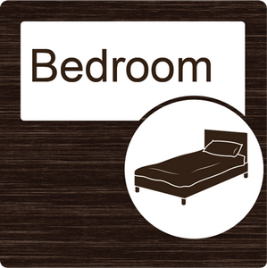 Dementia Friendly Bedroom Door Sign