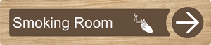 Dementia Friendly Sign Smoking Room Directional Sign Oak