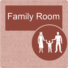 Load image into Gallery viewer, Dementia Friendly Family Room Door Sign
