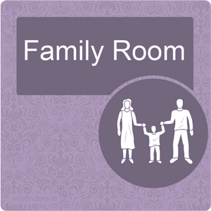 Dementia Friendly Family Room Door Sign