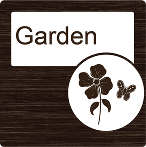 Dementia Friendly Garden Door Sign