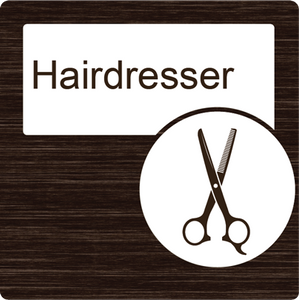 Dementia Friendly Hairdresser Door Sign