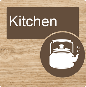 Dementia Friendly Kitchen Door Sign