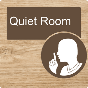Dementia Friendly Quiet Room Door Sign