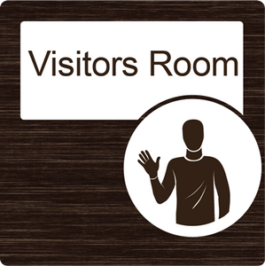 Dementia Friendly Visitors Room Door Sign