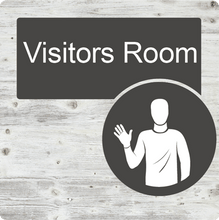 Load image into Gallery viewer, Dementia Friendly Visitors Room Door Sign