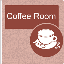Load image into Gallery viewer, Dementia Friendly Projecting Coffee Room Sign
