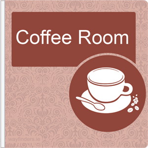 Dementia Friendly Projecting Coffee Room Sign