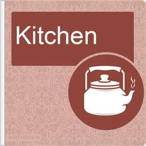 Dementia Friendly Projecting Kitchen Sign