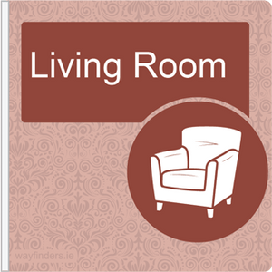 Dementia Friendly Projecting Living Room Sign