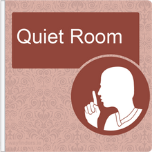 Load image into Gallery viewer, Dementia Friendly Projecting Quiet Room Sign