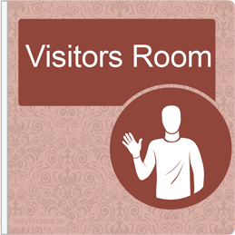 Dementia Friendly Projecting Visitors Room Sign