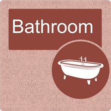 Load image into Gallery viewer, Nursing Home Dementia Friendly Door Sign Bathroom