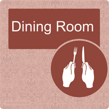 Load image into Gallery viewer, Nursing Home Dementia Friendly Door Sign Dining Room