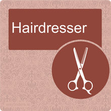 Load image into Gallery viewer, Nursing Home Dementia Friendly Door Sign Hairdresser