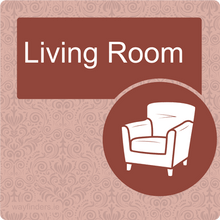 Load image into Gallery viewer, Nursing Home Dementia Friendly Door Sign Living Room